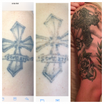 Lightened 2 sessions for coverup by CHRIS WELCH @TheGalleryTattooStudio