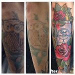 Artist @downtowndb13 wanted the owl lightened so @deadmeat could do his magic