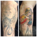We lightened LB (Boston Bruins #34) tat for a new coverup